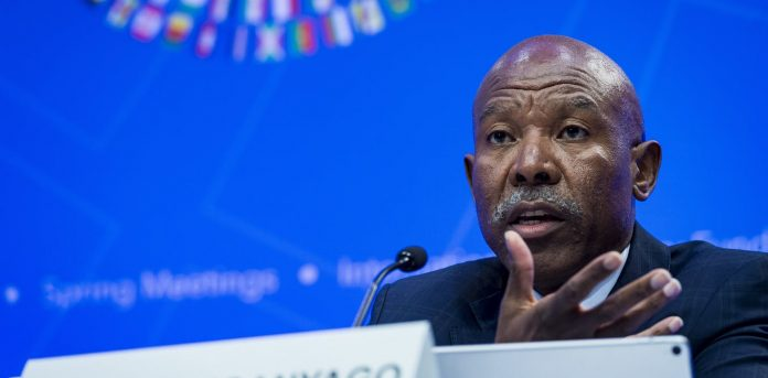 Lesetja Kganyago, governor of South Africa's central bank. EPA-EFE/Pete Marovich