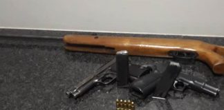 SAPS KZN operation recovers firearms, arrests house robber. Photo: SAPS