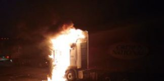 N3 blockade: Trucks set alight, four drivers arrested. Photo: SAPS