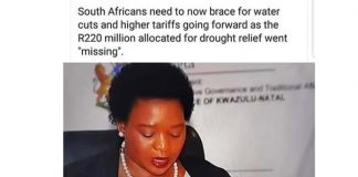 R220 million drought relief money: Just missing? Photo: FNSA