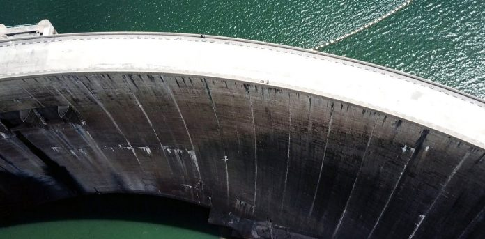 Dams, like the Kariba between Zambia and Zimbabwe, regulate flow for irrigation, hydropower and water supply. Supplied