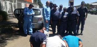 Armed robbery at hotel, four suspects nabbed, Kimberley. Photo: SAPS