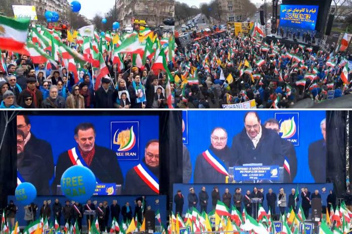 Iranians protest in Paris for a Free Iran - Feb. 8, 2019- Web Broadcast
