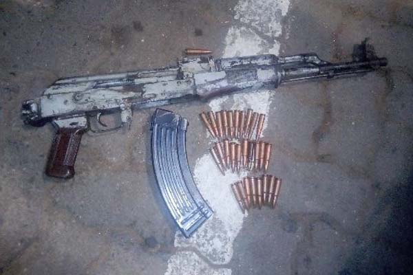 Two firearms including an AK47 assault rifle recovered, Mthatha. Photo: SAPS