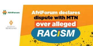 MTN supports the racist EFF and ANC but not the Afrikaner. Photo: AfriForum