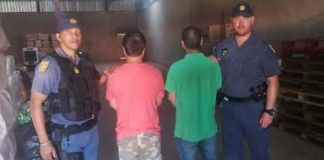 Hartswater counterfeit goods factory closed down, 2 arrested. Photo: SAPS