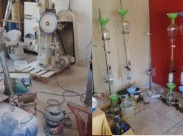 Steroid drug laboratory raided, pharmacist arrested, Hammanskraal. Photo: SAPS