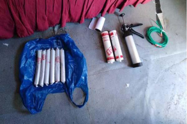 Explosives, stolen vehicles, dagga recovered, Khayelitsha. Photo: SAPS