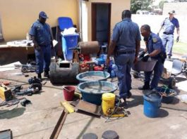 Mining equipment worth over R1 million and gold dust seized. Photo: SAPS
