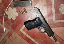 Arrest after unlicensed firearm recovered, 'Soweto on Sea'. Photo: SAPS