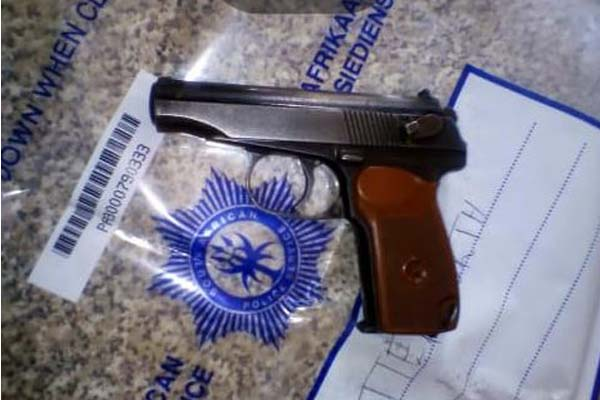 Man arrested with illegal firearm, Butterworth. Photo: SAPS