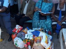 New Brighton police supports family of murder and rape victim. Photo: SAPS