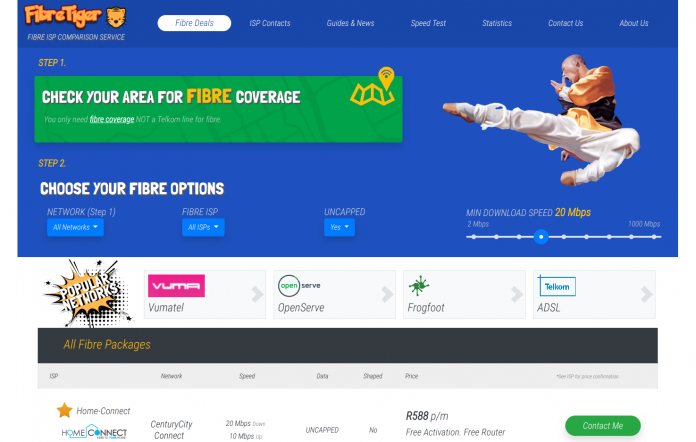 Fibre Tiger - Relaunched With New Design and ADSL Options