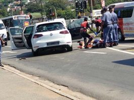 Two people killed, one injured, drive by shooting, Verulam. Photo: RUSA