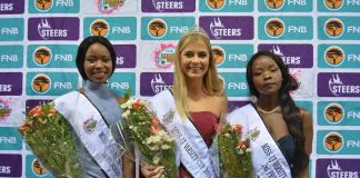Shandre Hoffman was crowned Miss UJ Varsity Cup at the crowning ceremony in Johannesburg on Monday. With her are first princess Mohau Matinketsa (left) and second princess Mavelous Mhlanga (right). Photo: Kimara Singh