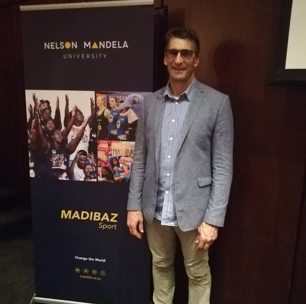 Former Presidential Protection Unit team leader Rory Steyn gave an address at Nelson Mandela University, arranged by Madibaz Sport, on Thursday at which he spoke about life lessons he learnt from late president Nelson Mandela. Photo: Brittany Blaauw