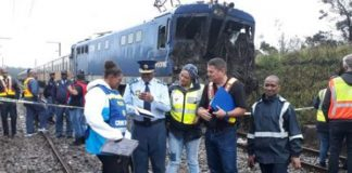 Train and tip truck accident claims two lives. Photo: SAPS