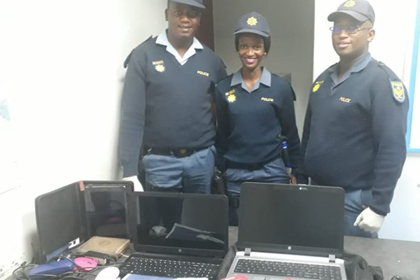 Kakamas police arrest suspect with stolen items. Photo: SAPS