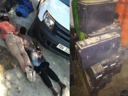 Theft of tower backup batteries, Gauteng gang arrested. Photo: SAPS