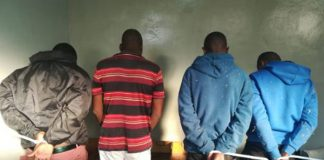 Business robbery, 5 suspects arrested, 1 with fake police ID, Brakpan. Photo: SAPS