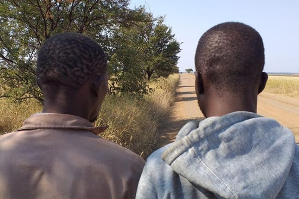 Two suspects arrested stealing farm diesel, Crecy area, Waterberg. Photo: HPG