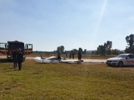 Pretoria plane crash, one man critically injured, other unscathed. Photo: Arrive Alive