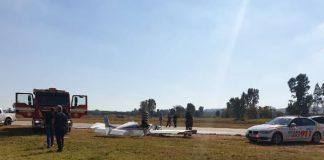 Pretoria plane crash, one man critically injured, other unscathed. Photo: Arrive Alive