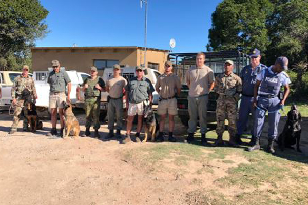 Grahamstown K9 unit assists rangers to stop poachers in their tracks. Photo: SAPS