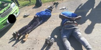 3 Suspects arrested with unlicensed firearm, stolen vehicle, KWT. Photo: SAPS