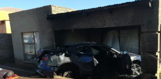 CIT robbery foiled: 8 arrested, 1 dies in fire, Evaton Mall, Vaal. Photo: SAPS
