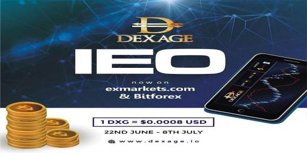 The Revolutionary Exchange -DEXAGE- has secured an IEO on BitForex and Exmarkets