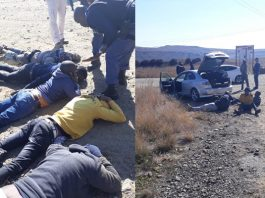 Farm attack averted, 5 attackers including 2 policeman arrested, Fouriesburg. Photo: BKA