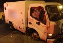 Cash-in-transit heist, guard shot, Krugersdorp. Photo: Arrive Alive