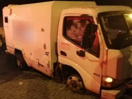Cash-in-transit heist, guard shot, Krugersdorp. Photo: Arrive Alive