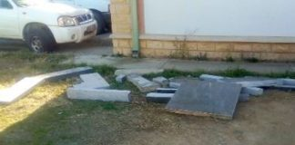 Tombstones theft and violation of graves, two suspects arrested. Photo: SAPS