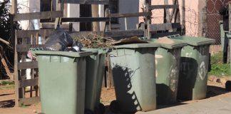 Partially burnt body of newborn baby found dumped in rubbish bin. Photo: SAPS