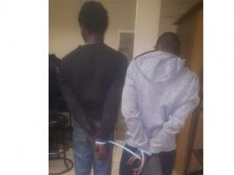 Two drug dealers nabbed, Welkom. Photo: SAPS