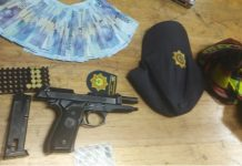 Man arrested with police uniform and police robbed firearm, Durban. Photo: SAPS
