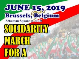 Grand Rally In Brussels, In Solidarity With The Iranian People And Their Uprising