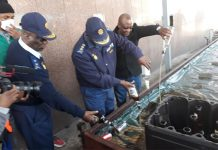 Gauteng Provincial Commissioner destroys 636k litres of confiscated liquor. Photo: SAPS