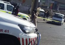 Cash-in-transit heist, man left seriously injured, Soweto. Photo: Arrive Alive