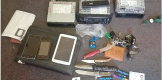 Shack raid recovers stolen property and drugs, Amalinda Forest, EL. Photo: SAPS
