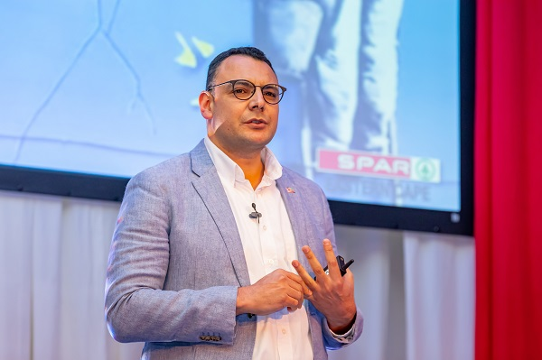 SPAR Eastern Cape's Angelo Swartz, who will soon take over as managing director, outlined the way forward for Phase II of the STOP Plastic campaign at the Boardwalk Hotel in Port Elizabeth on Monday. Photo: Leon Hugo