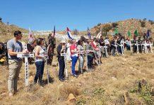 South African farm murders: White crosses erection day 6-8 September 2019. Photo: FNSA
