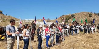South African farm murders: White crosses erection day 6-8 September 2019. Photo: FNSA