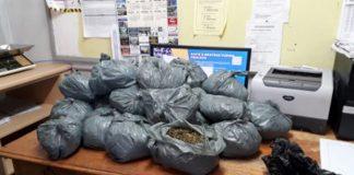 Two drug dealers nabbed with R38k worth of dagga, Upington. Photo: SAPS