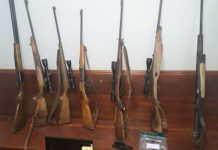 Lothair farm burglary, firearms recovered, suspects arrested. Photo: SAPS