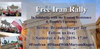 Free Iran Rally in Berlin in Solidarity with the Iranian resistance and People's uprising