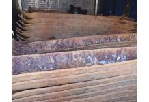 Trucks loaded with stolen railway sleepers intercepted, Klerksdorp. Photo: SAPS