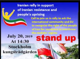 Over 5000 Iranians(MEK's Supporters) Hold a Rally in Stockholm to Cry for Freedom